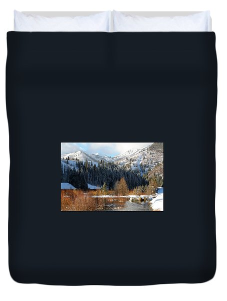 Winter I Big Cottonwood Canyon  Duvet Cover