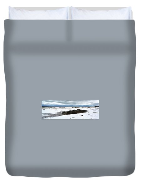 Winter Ice On Lake Michigan 3.0 Duvet Cover