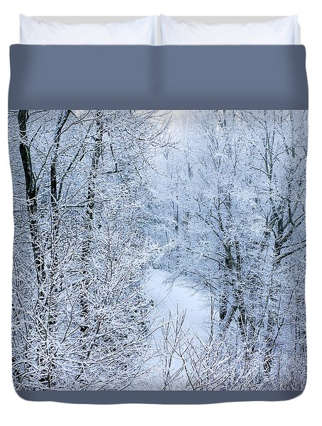 Winter Ice Storm Duvet Cover
