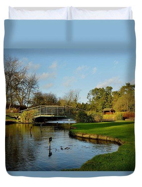 Winter In Burnby Hall Gardens Duvet Cover
