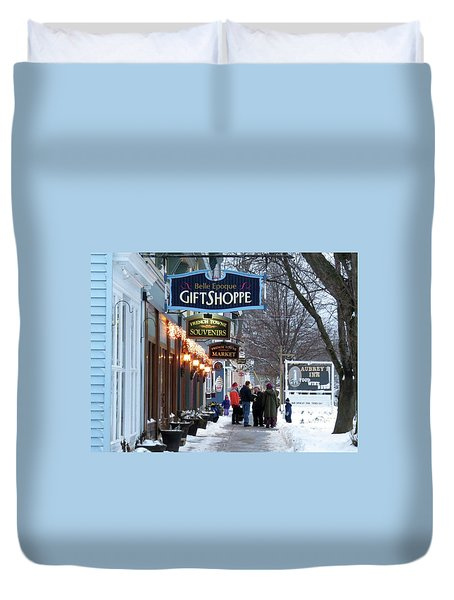 Winter In Cape Vincent Duvet Cover