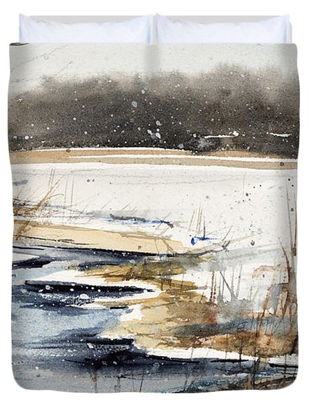 Winter In Caz Duvet Cover by Judith Levins