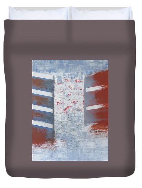 Winter In Chernogolovka Duvet Cover
