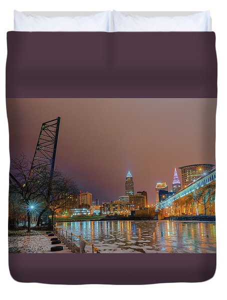 Winter In Cleveland, Ohio  Duvet Cover