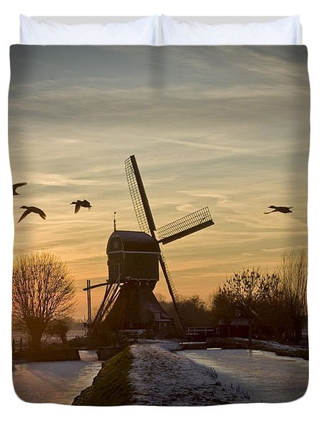Winter In Holland-2 Duvet Cover
