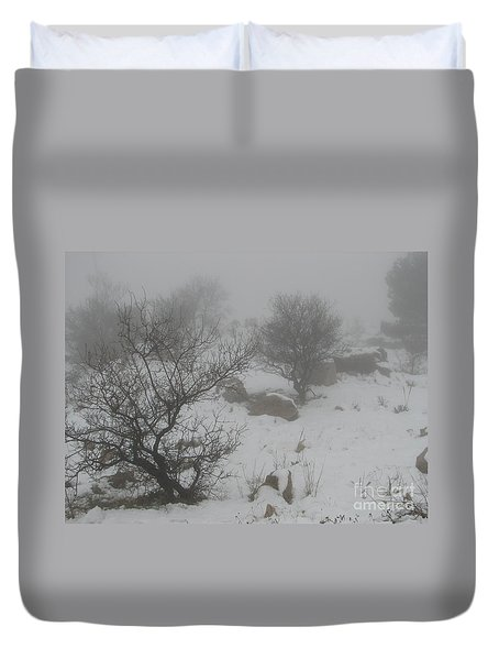Winter In Israel Duvet Cover by Annemeet Hasidi- van der Leij