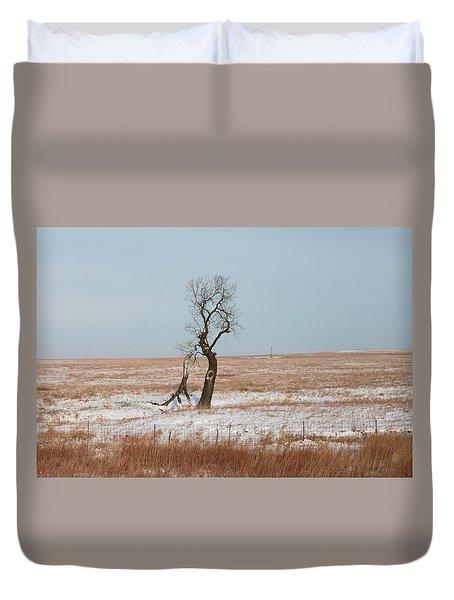 Winter In Kansas Duvet Cover