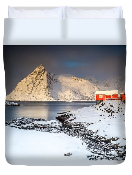 Winter In Lofoten Duvet Cover