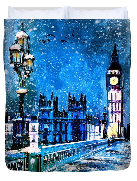 Winter In London  Duvet Cover