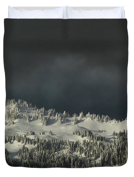 Winter In North Cascades Duvet Cover