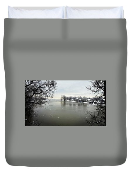 Winter In Quebec Duvet Cover