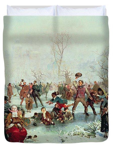 Winter In Saint James's Park Duvet Cover by John Ritchie
