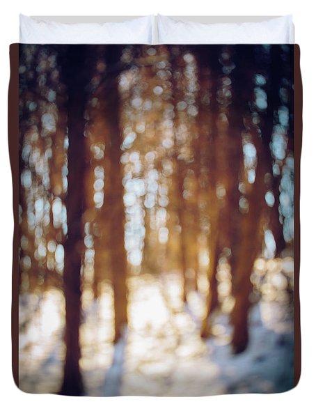 Winter In Snow Duvet Cover