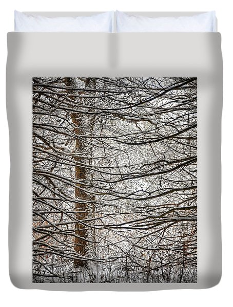 Winter In The Woods Duvet Cover