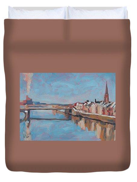 Winter In Wyck Maastricht Duvet Cover