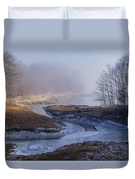 Winter Inlet Duvet Cover by Tom Singleton