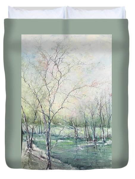 Winter Interlude Duvet Cover