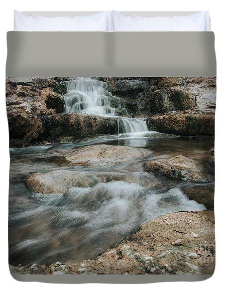 Winter Inthe Falls Duvet Cover