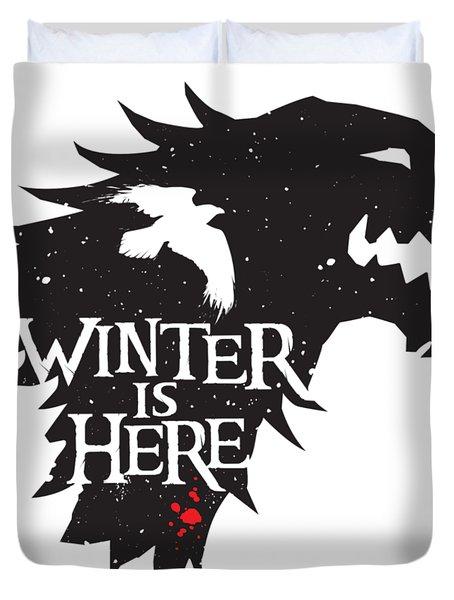 Winter Is Here Duvet Cover