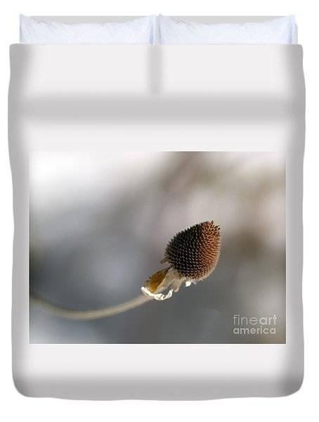 Duvet Cover featuring the photograph Winter Is Lurking by Irma BACKELANT GALLERIES