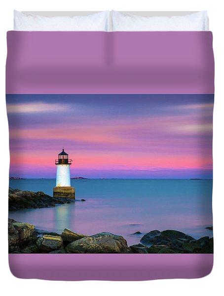 Winter Island Light 1 Duvet Cover