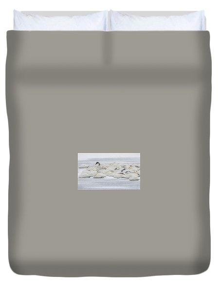 Duvet Cover featuring the photograph Winter by Kelly Marquardt
