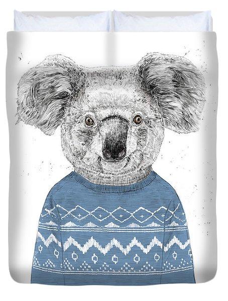 Winter Koala Duvet Cover