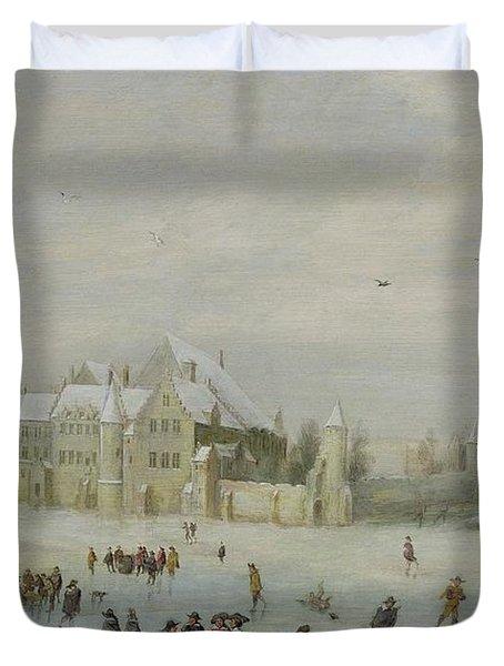 Winter Landscape Duvet Cover by Barent Avercamp