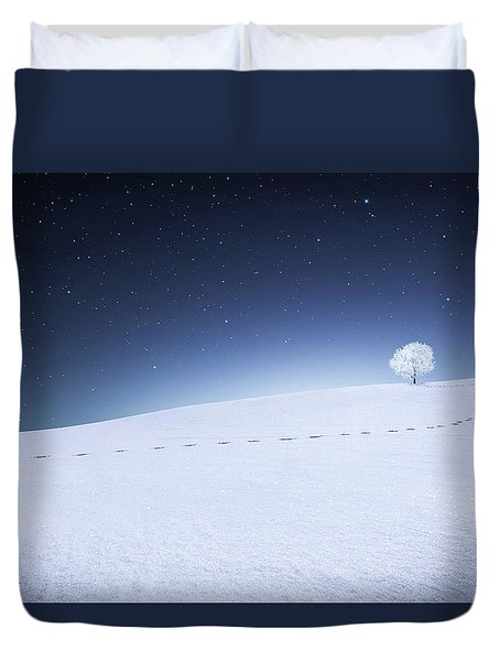 Duvet Cover featuring the photograph Winter Landscape by Bess Hamiti