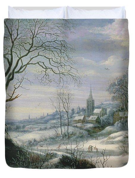 Winter Landscape Duvet Cover by Daniel van Heil
