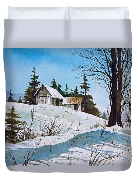 Winter Landscape Duvet Cover by James Williamson