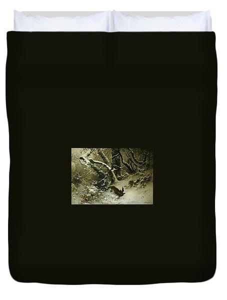 Winter Landscape Duvet Cover by Ludwig Munthe