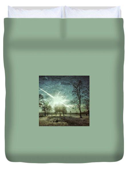 Winter Landscape Duvet Cover by Oleg Shagapov