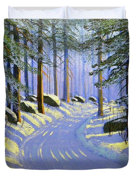 Winter Landscape Study 1 Duvet Cover by Frank Wilson