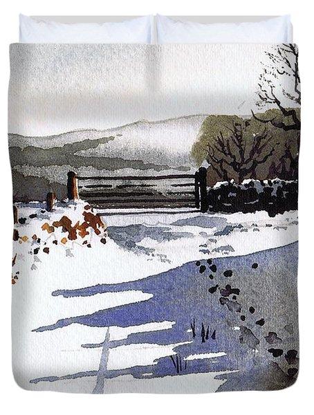 Winter Lane Sowood Duvet Cover by Paul Dene Marlor