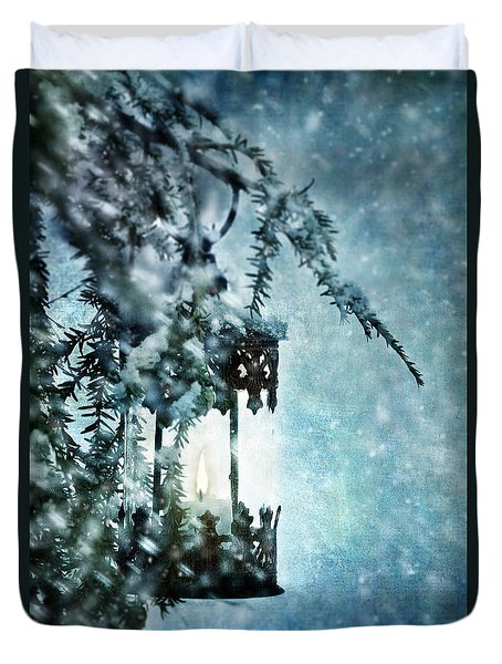 Winter Lantern Duvet Cover
