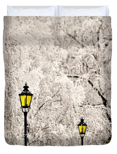Winter Lanterns Duvet Cover