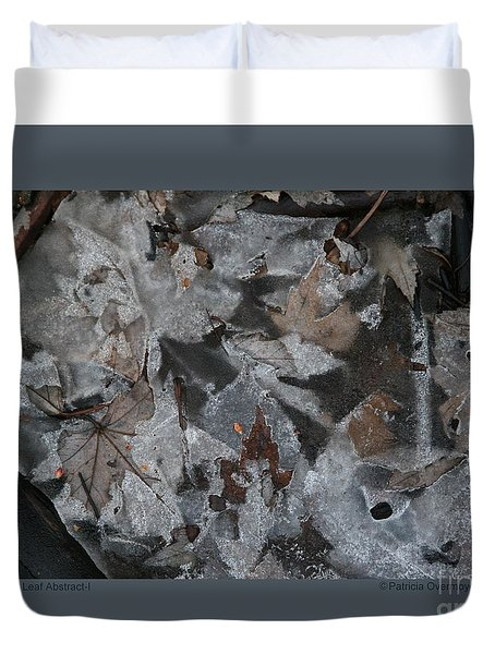 Winter Leaf Abstract-i Duvet Cover by Patricia Overmoyer