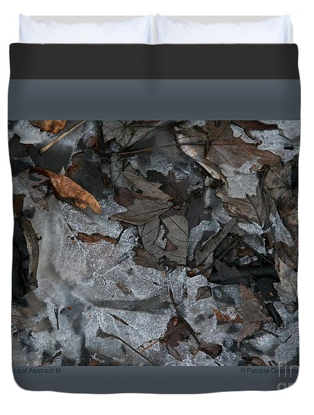 Winter Leaf Abstract-iii Duvet Cover by Patricia Overmoyer