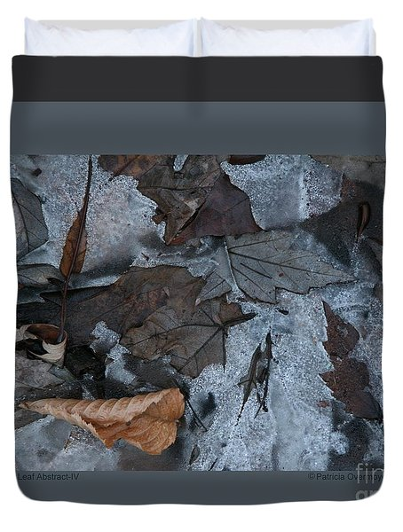 Winter Leaf Abstract-iv Duvet Cover