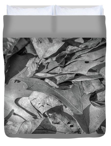 Winter Leaves Duvet Cover
