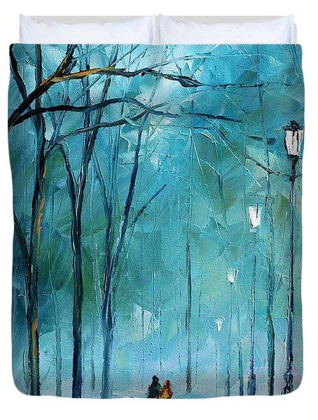 Winter Duvet Cover by Leonid Afremov