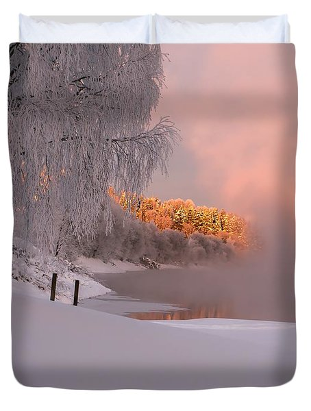 Winter Light Duvet Cover by Rose-Maries Pictures