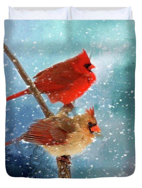 Winter Love Duvet Cover
