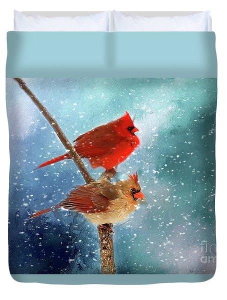 Winter Love Duvet Cover