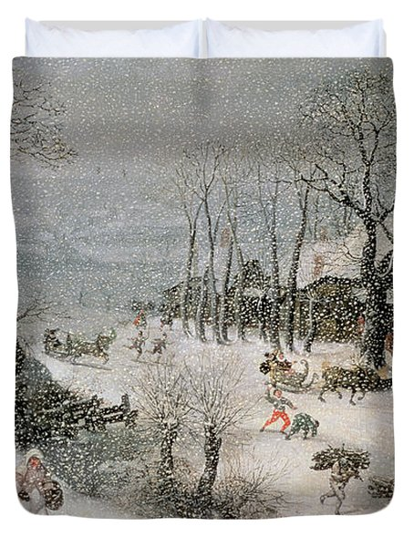 Winter Duvet Cover by Lucas van Valckenborch