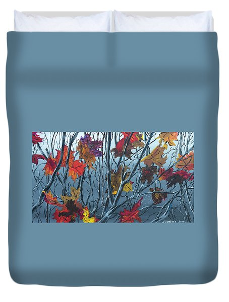 Winter Maple Duvet Cover