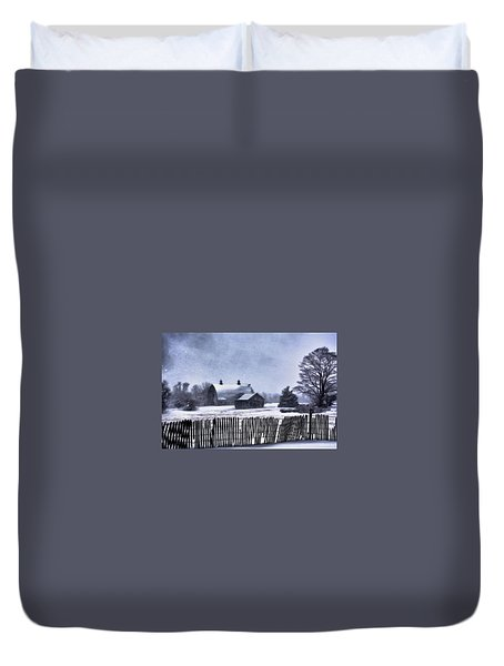 Duvet Cover featuring the photograph Winter by Mark Fuller
