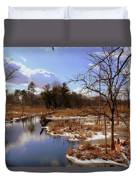 Winter Marsh Duvet Cover