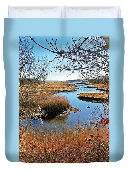 Winter Marsh Duvet Cover